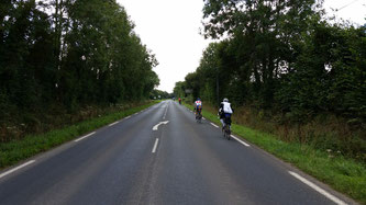 The view of forested roads in France at Paris-Brest-Paris 2015 Randonneur