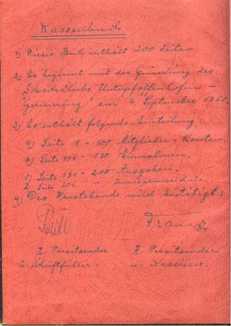 Kassenbuch 1950