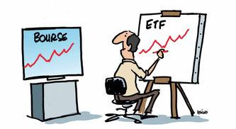 Un ETF bourse copie aussi fidèlement que possible un indice de référence.