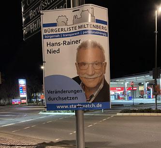 Hans-Rainer Niede, Kandidat für den Stadtrat Bürgerliste Miltenberg