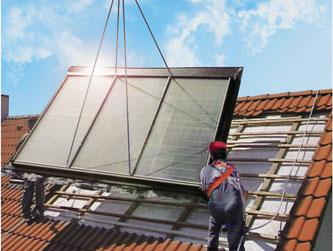 Nutzen Sie die unbegrenzt verfügbare Sonnenwärme zur Stromerzeugung und Warmwasserbereitung