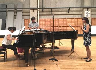 2時間の音楽練習の後、往生院のシーンの後半を録音。
