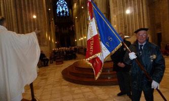Bénédiction du drapeau en la cathédrale de Coutances