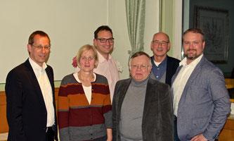 v.l.: Dirk Stockamp, Heike Schlüter, Johannes Elstner, Eckhard Fuhrmann, Hermann Ludewig und Florian Schulte-Fischedick