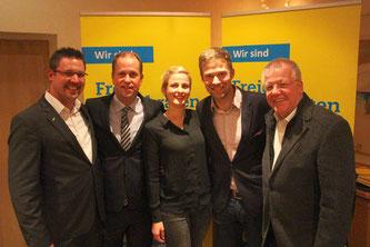 v.l. Rainer Gellermann, Dr. Joachim Stamp, Philip Winkler mit Lebensgefährtin, Dr. Ulrich Klotz