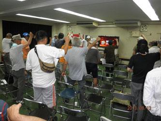 夏祭り上映会で「反戦・仕事よこせ」の闘いを決意