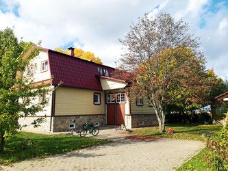 Дом Александра Брюханова в деревне Сергелево