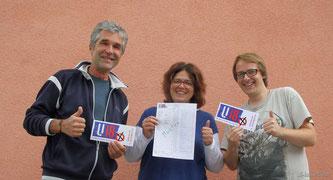 Die Organisatoren Hans-Jürgen Mayer (JuZe), Kati Wimmer (Kinderschutzbund) und Mirko Zeisberg (KJR).