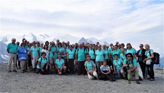 Le Pied Champêtre devant le Mont Blanc