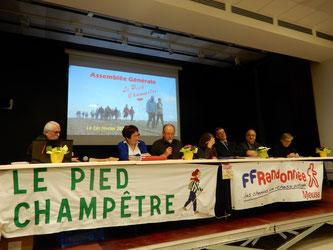 Le bureau du Pied Champêtre, le Maire de Vaucouleurs, le Vice-président de la CODECOM et la Conseillère Départementale