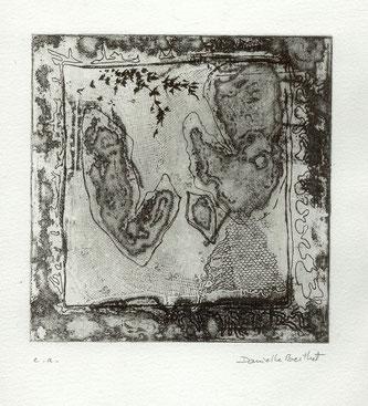 """Danièle Berthet, """"Carte noire"""", 2000, 15 x 15."""