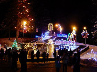 The Grotto is Decorated with Hundreds of Colored Lights