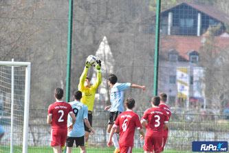 SVZ-Keeper Völkl zeigt erneut eine starke Vorstellung (Foto: Günter Staudinger/FuPa.net)