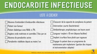 ParoSphère Formation   Endocardite infectieuse et implants dentaires   Liste à cocher