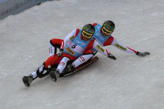 Am Bild: Christoph und Thomas Knauder bei Ihrem WM-Einsatz (Foto: FIL / Peter Maurer)
