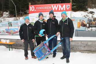 Am Bild: Obmann Reinhold Pirker, Christoph und Jürgen Kogler, Gerfried Pirker(Foto: RC Mondi Frantschach)