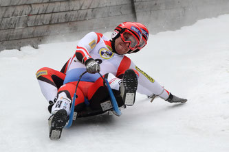 Am Bild Christoph und Thomas Knauder bei Ihrer Fahrt zu Rang 2 im Doppelsitzerbewerb (Photocredit: HQ Superphoto)