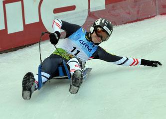 Dominik Maier bei den Junioren-Europameisterschaften in Umhausen / Tirol im Einsatz. (Foto: Sobe)