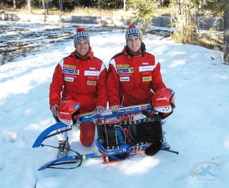 Am Bild Christoph und Thomas Knauder, welche die Generalprobe für den Europacupauftakt erfolgreich meisterten und sich den Sieg in der Klasse der Doppelsitzer sicherten. (Foto: RC Mondi Frantschach)