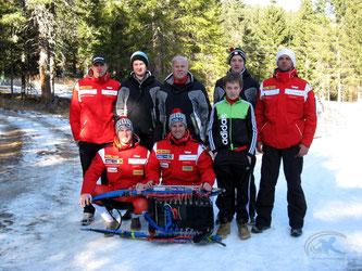 Am Bild die Sportler und Betreuer beim Saisonauftakt im Bundesleistungszentrum Süd auf der Winterleiten (Foto: RC Mondi Frantschach)