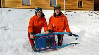 Am Bild von links Jürgen und Christoph Kogler. (Foto: RC Mondi Frantschach)