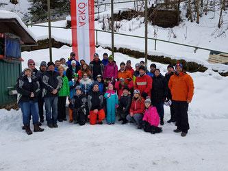 Am Bild Obmann Reinhold Pirker mit Sportlern, Funktionären und Mitgliedern des RC Mondi Frantschach (Foto: RC Mondi Frantschach)