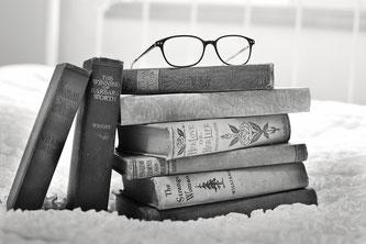 Stapel alter Bücher