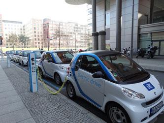 E-Autos an der Ladestation