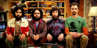 "4 Protagonisten der TV-Serie ""Big Bang Theory"""