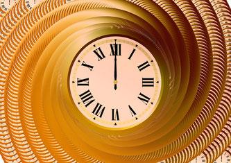 Uhr in Spirale