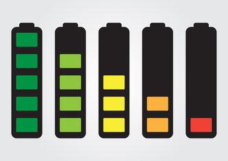 Batterien mit Ladeanzeigen