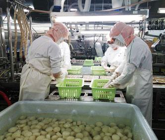 ローソンファーム鳥取のダイコン加工場