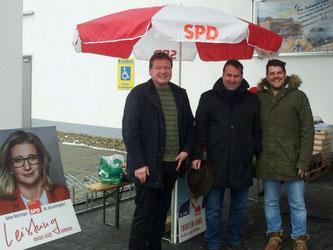 SPD v.l: Uwe Schäfer, Magnus Jung, B.Gebauer