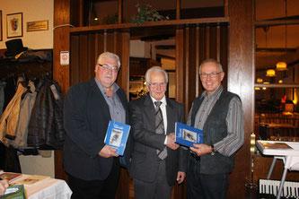 ortsvorsteher Norbert Rauber, Alois Hans, 1. Vorsitzender Geschichts- und Heimatverein  Werner Rauber