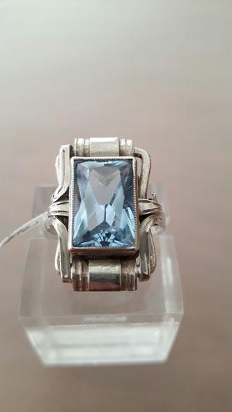 Blau Topas Ring 3 Silber