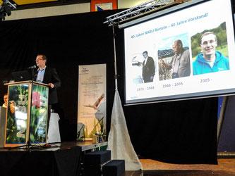 Dr. Nick Büscher bei der Landesvertreterversammlung in Rinteln. - Foto: Kathy Büscher