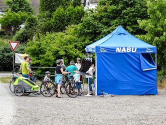 Viele Radtouristen machten einen Zwischenstopp. - Foto: Kathy Büscher
