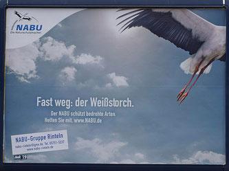 Werbeplakat der NABU-Gruppe Rinteln. - Foto: Kathy Büscher