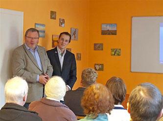 Grußwort von Bürgermeister Karl-Heinz Buchholz. - Foto: Kathy Büscher