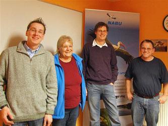 Der neue Vorstand des NABU Rinteln mit Nick Büscher, Roswitha Möller, Dennis Dieckmann und Alexander Bronner (v.l.). - Foto: Kathy Büscher
