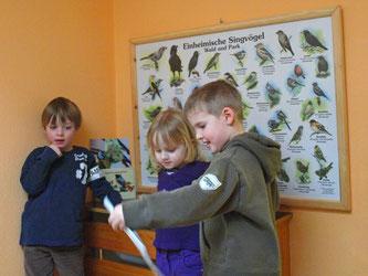 Die Kinder des Kindergartens vor der neuen Schautafel. - Foto: Kathy Büscher