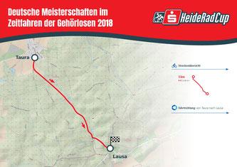 Streckenkarte Einzelzeitfahren am 25. August Quelle: Sportfreunde Neuseenland e.V.