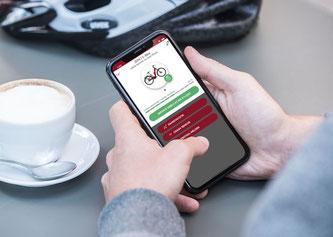 Über die neu entwickelte ZEMO-Smart-App 2.0 haben E-Bike-Fahrerinnen und -Fahrer die Möglichkeit eine Reihe von digitalen Angeboten zu nutzen.