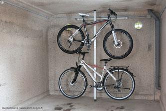 Fahrrad horizontal hängend lagern