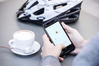 ©IT´S MY BIKE ist eine neue Diebstahlschutzlösung für E-Bikes. Ein GPS-Tracker wird fest im Fahrrad verbaut. Auf einer App kann sich der Nutzer anschließend die Position seines Fahrzeugs anzeigen lassen.