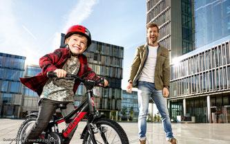 Eine Federung ist bei den Kinderrädern sinnvoll wie bei den Großen