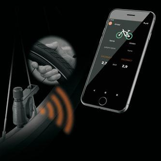 MYBIKE App in Verbindung mit dem neuen SKS Reifendruckkontrollsystem AIRSPY