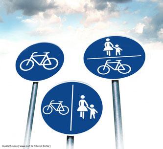 Radfahrer gehören nicht auf die Fahrbahn