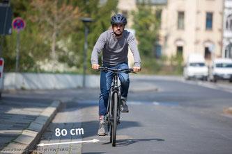 Für Radfahrer gilt das Rechtsfahrgebot