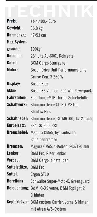 Technische Daten Bergamont  E-Cargoville LT Expert